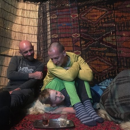 Paveh, Iran: Our guests from Czech Republic in Apr.2018 in Bayangan district in Kermanshah province in the we