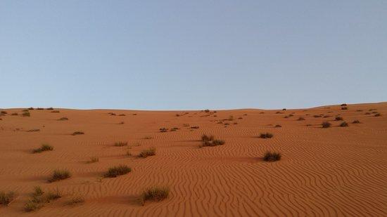 Ghuwayfat al Habb, Oman: dune seen from below