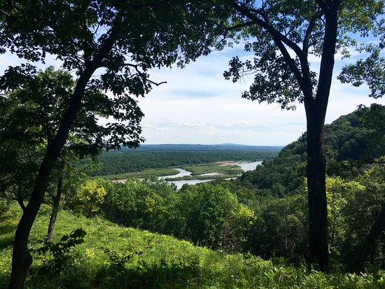 Sauk City, WI: Wisconsin River from Ferry Bluff State Natural Area