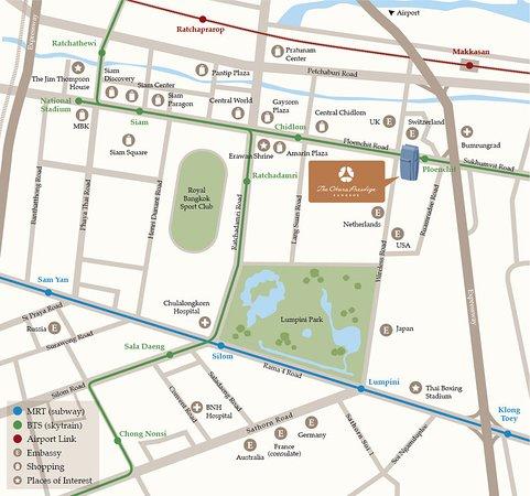 The Okura Prestige Bangkok: Map