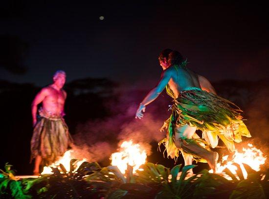 Kilauea, Hawái: A scene from the fire show