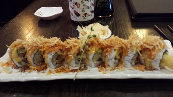 Ginza Sushi: This was called Energy roll. Very tasty sushi.