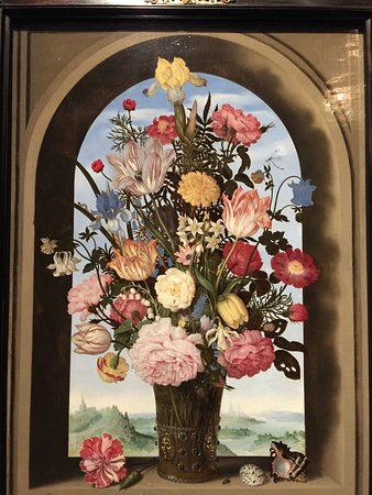 The Mauritshuis Royal Picture Gallery: 窗邊花瓶