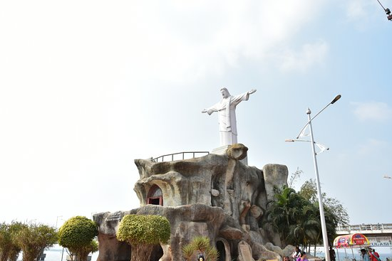 jesus statue,yanam beach