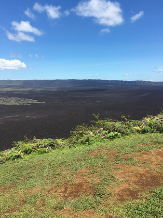 Guiding Galapagos Expeditions: Caldera - shorter 3 hour hike as the volcano was on yellow alert