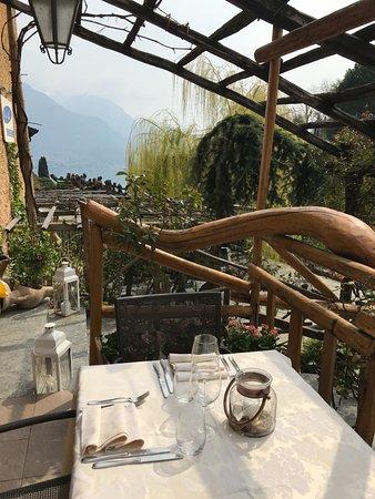 La terrazza del Salice Blu a Bellagio