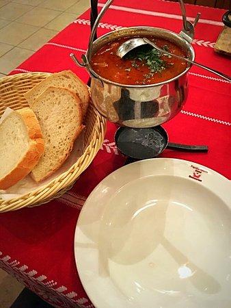 Hegyeshalom, Hungary: From menu
