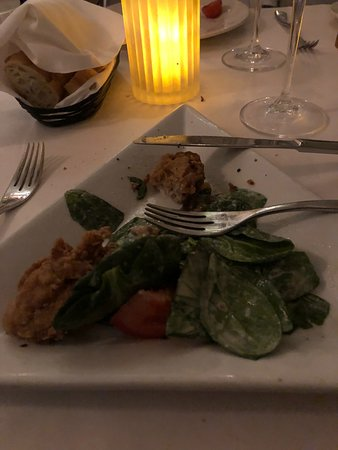 Cafe Thirty A : Fried Oysters and spinach salad, get this for sure,