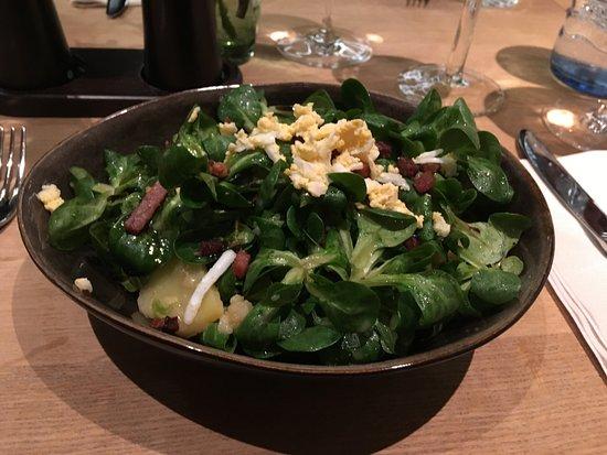 Leibnitz, Österrike: Kartoffel Vogerl Salat