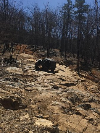 Troy, NC: We hiked trail 390 to watch the jeeps climb the rocks