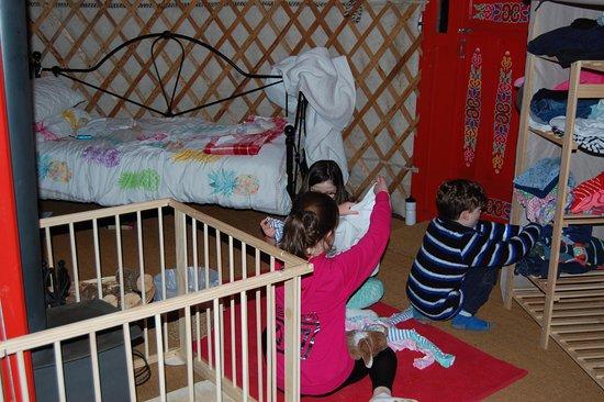 Bratton Clovelly, UK: Settling into the yurt