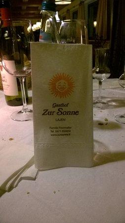 Senale-San Felice, Włochy: menu