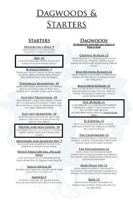 Oakhurst Grill: Starters and Dagwoods
