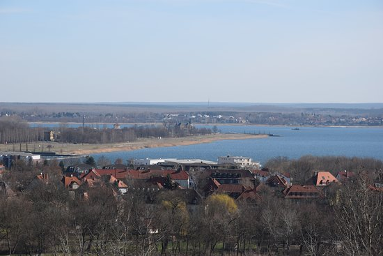 Bitterfeld, Almanya: Blick auf den Goitzsche-See