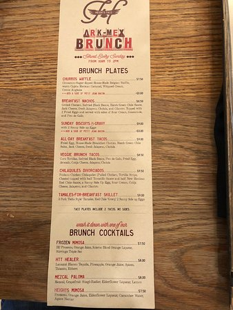 Heights Taco & Tamale Co.: Brunch menu