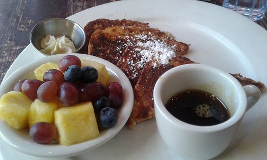 Busboys and Poets: Vegan/Gluten-Free French Toast w/ side of fruit 