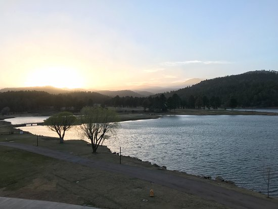 Mescalero, NM: View from patio.
