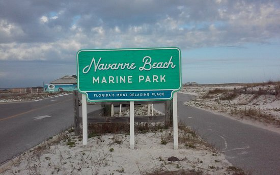 Navarre Beach Entrance To Parking Lots And Areas