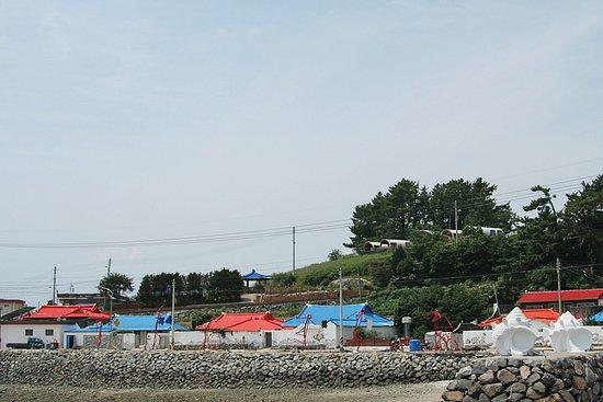 Goheung-gun, Sør-Korea: 연홍도 선착장에서 본 마을 모습...