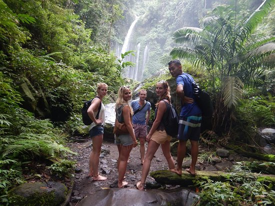 Lombok, Indonesia: Waterfall trip