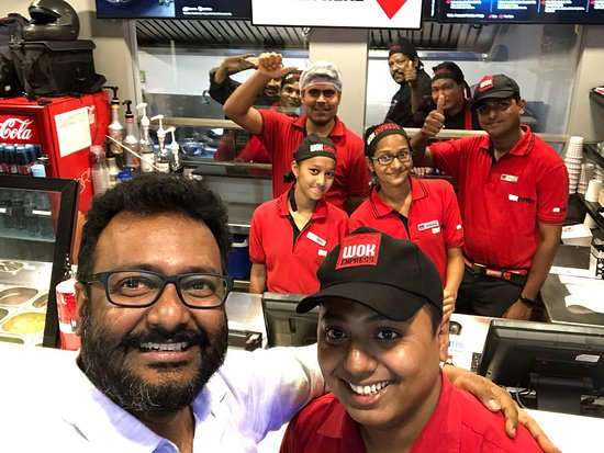 Wok Express: with the staff