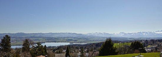 Forch, سويسرا: Aussicht zum Greifensee und Säntis