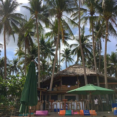 Shows Mad Monkey Hostel on Nacpan beach - Nacpan Beach bars