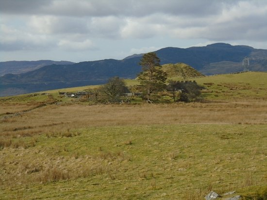Trawsfynydd, UK: Saxon Hill Fort above Roman Ruins