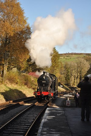 Oxenhope, UK: pulling in