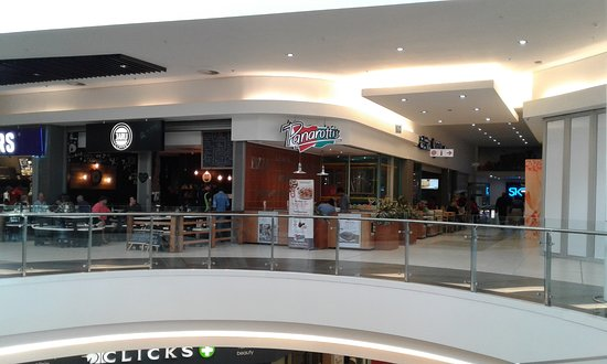 Bloemfontein, Sydafrika: Upper level food court