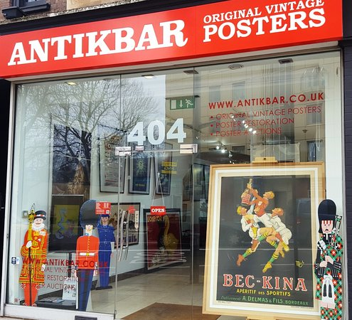 AntikBar Original Vintage Poster Auction Ft  WWII Fougasse