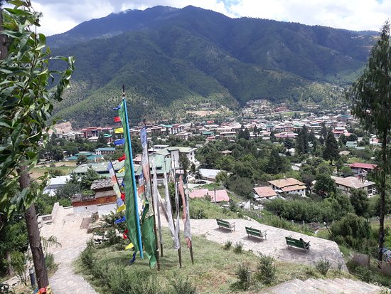 Undiscovered unusual holistic view of Thimphu