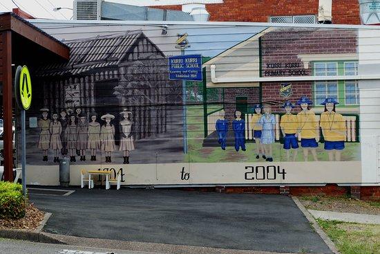 Kurri Kurri, Australia: The school yard - then and now