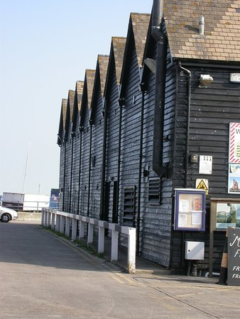 Whitstable Harbour: huts