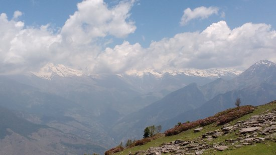 Rohru, India: Chansal pass panoramic view
