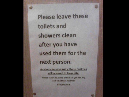 Notice To Leave Clean After Use