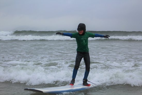 Rossnowlagh, Ireland: A young Kelly Slater