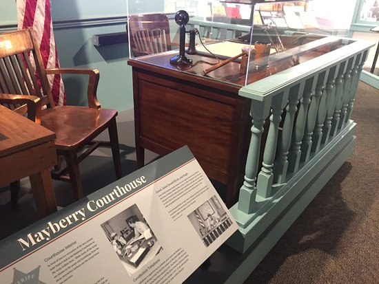 The Andy Griffith Museum: Inside the Museum - Andy's Courtroom Desk