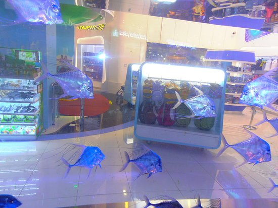 The Dubai Mall: живые рыбки