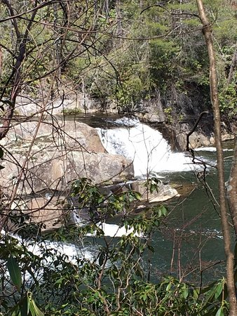 Linville Falls, at the bottom