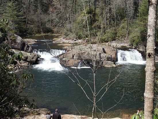 Linville Falls, North Carolina: Linville Falls, at the bottom