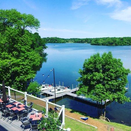 Long Lake, MN: Deck Seating with Lake View