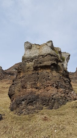 Carsaig Arches: do you see frog-rock