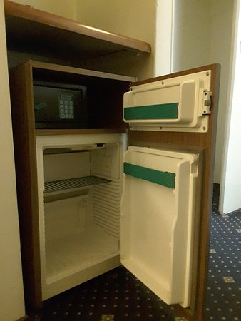 Laleh International Hotel Iran: Is this the minibar of a 5 star at check in?