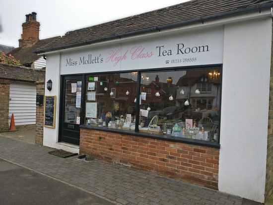 Miss Mollett's High Class Tea Room: The outside of the shop