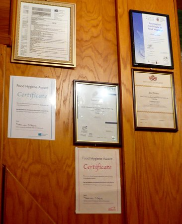 Hygiene Certificates Picture Of Cutty Sark Cafe Restaurant