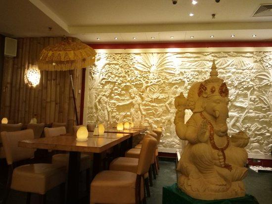 décoration assez sympa, typique des restaurants indiens - Bild von ...