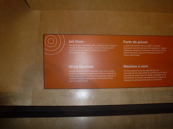 Information Board Describing Creating Sound Effects For