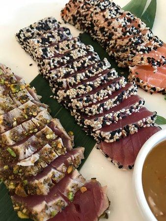 salmone e tonno scottato