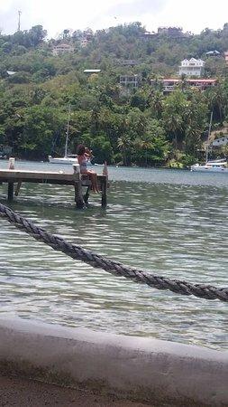 Marigot Beach Club and Dive Resort: plage de l'hôtel